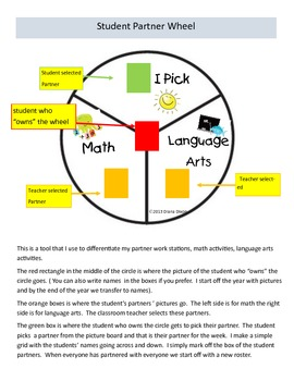 Differentiate Centers with a partner wheel