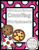 Differentiated Counting Worksheets