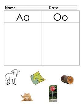 Differentiate Letter Sounds /a/ vs. /o/