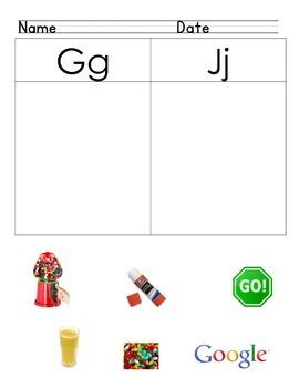 Differentiate Letter Sounds /j/ vs. /g/