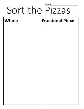 Differentiate a Fractional Part from Whole-VAAP Freebie!