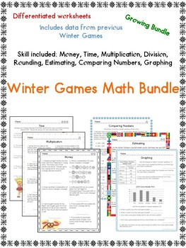 2018 Winter Olympics Differentiated Math Bundle