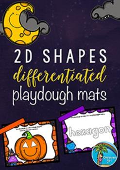 Halloween 2D Shapes DIFFERENTIATED Playdough Mats