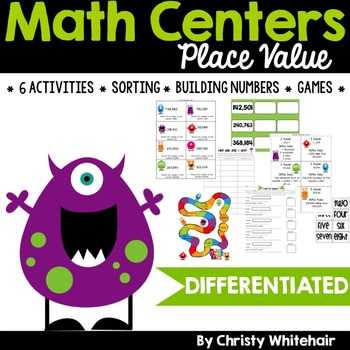 Differentiated 4th Grade Common Core Aligned Place Value Centers!