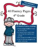 Differentiated 4th Grade Fluency Passages (41 weeks: 3 levels per passage)