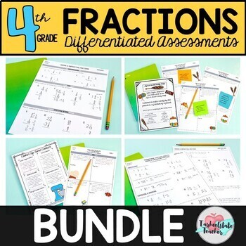 Differentiated 4th Grade Fractions Tests