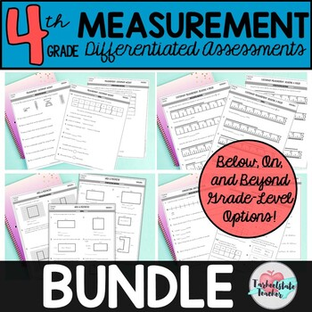 4th Grade Measurement Worksheets, Measurement Word Problems, and Tests