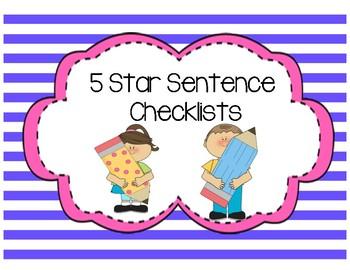 Differentiated 5 Star Checklist