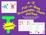 DIFFERENTIATED A-Z Fill-a-Bag Scavenger Hunt Packet