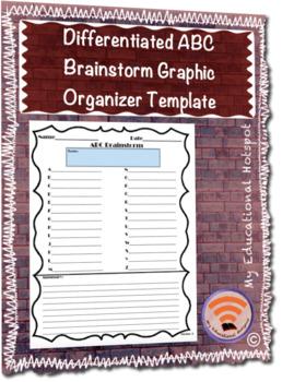 Differentiated ABC Brainstorm Graphic Organizer Template