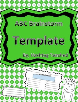 Differentiated ABC Brainstorm Template