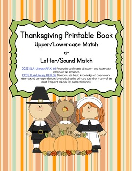 Thanksgiving Differentiated ABC Matching Book (Common Core)