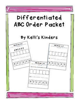 Differentiated ABC Order Packet