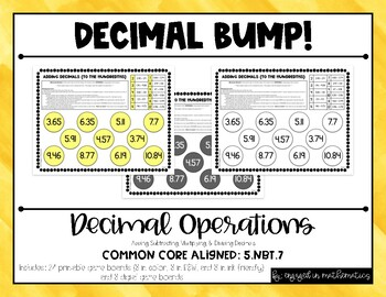 **Differentiated** ALL Decimal Operations (+, -, x, /) BUMP!
