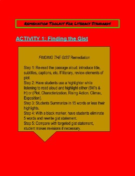 Differentiated Academic Conversations Remediation Tool Kit-6th Grade