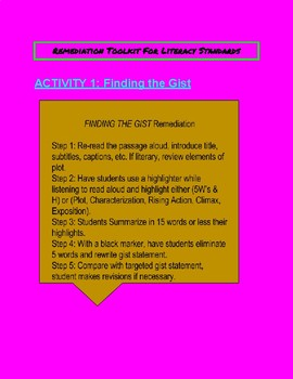 Differentiated Academic Conversations Remediation Tool Kit-7th Grade