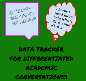 Differentiated Academic Conversations for Literacy Unit Data Tracker 6th Grade