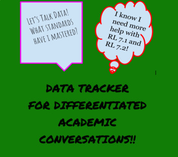Differentiated Academic Conversations for Literacy Unit Data Tracker 7th Grade