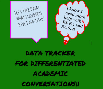 Differentiated Academic Conversations for Literacy Unit Data Tracker 8th Grade