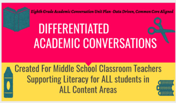 Differentiated Academic Conversations for Literacy in 8th Grade-BUNDLE