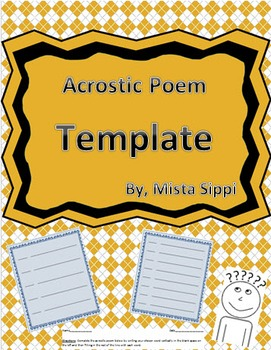 Differentiated Acrostic Poem Template