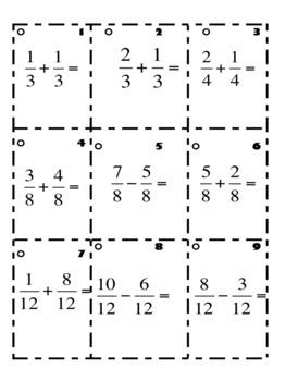 Worksheets Adding And Subtracting Fractions Three Same ...