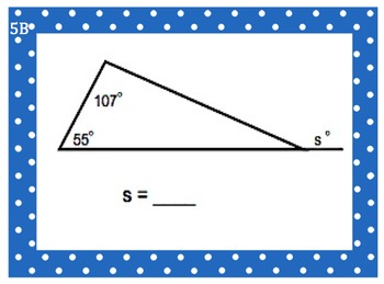 8th Grade Math Differentiation Determine Interior Exterior Angles of Triangles