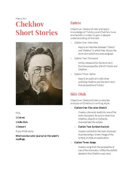 Differentiated Activity for Chekhov Short Stories