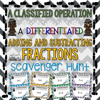Adding and Subtracting Fractions Activity
