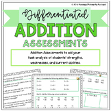 Differentiated Addition Assessments: Pre/Post Tests & Grou