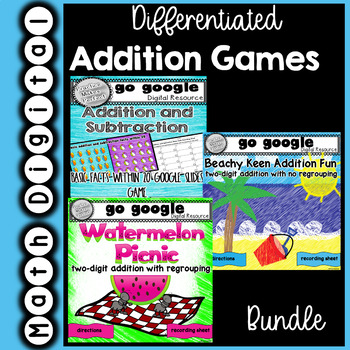 Differentiated Addition Games for the Google Classroom