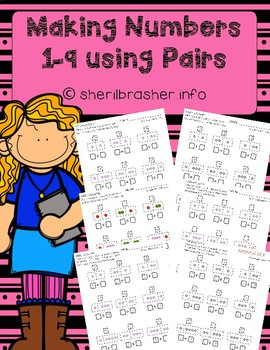 Differentiated Addition | Making Numbers 1-9 using Pairs
