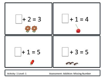 Differentiated Addition Missing Number Unit K-1