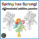 Differentiated Addition Practice for Spring