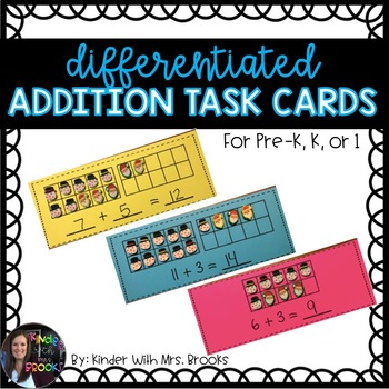 Differentiated Addition Problems *Mini Erasers/Playdough*