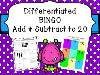 Differentiated Addition & Subtraction BINGO 1-20