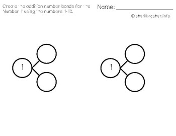 Differentiated Addition & Subtraction Number Bonds Using 1-10