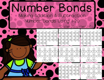 Differentiated Addition & Subtraction Number Bonds Using 1-20