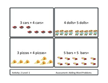 Differentiated Addition Word Problem Unit 1st-2nd grade