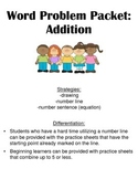 Differentiated Addition Word Problems