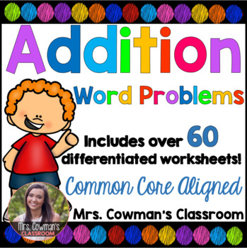 Differentiated Addition Word Problems Worksheet Packet