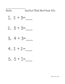 Addition worksheets (differentiated)