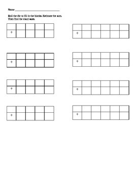 Differentiated Addition and Subtraction Activity