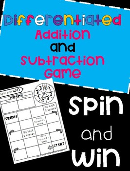 Differentiated Addition and Subtraction Game