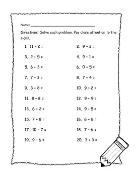 Differentiated Addition and Subtraction Mixed Review (FREE)