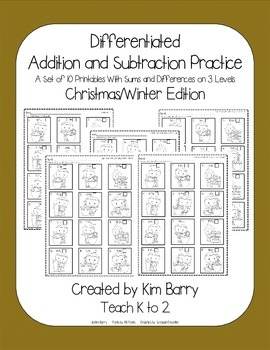 Differentiated Addition and Subtraction Practice- Gingerbread