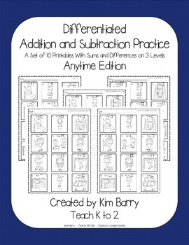 Differentiated Addition and Subtraction Practice- Playground Kids