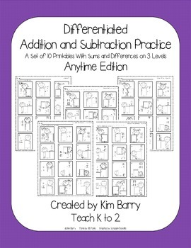 Differentiated Addition and Subtraction Practice- ipad Kids