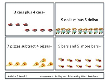 Differentiated Addition and Subtraction Word Problems Unit 1st-2nd