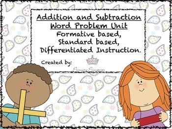 Differentiated Addition and Subtraction Word Problems Unit